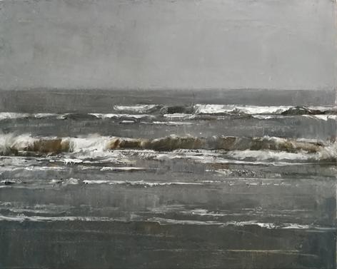 Strand - 40 x 50 cm - olie op linnen - 2018.Patricia Spoelder