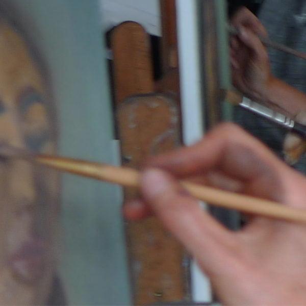 model tekenen en schilderen