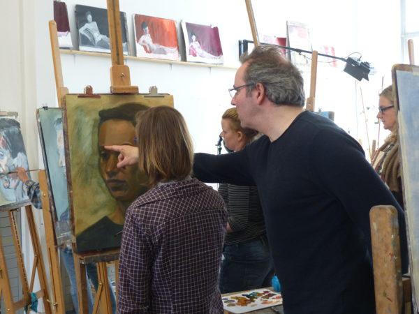 Rogier Willems model tekenen schilderen