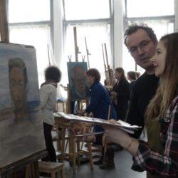 portret tekenen en schilderen