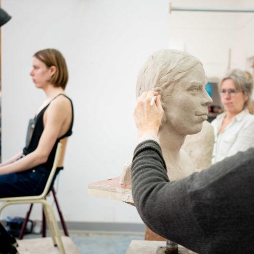 model portret boetseren