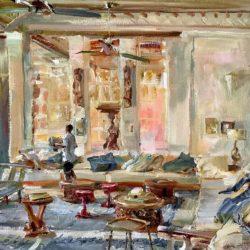 Kasbah House Lobby, Shela, Lamu Island. 32x45