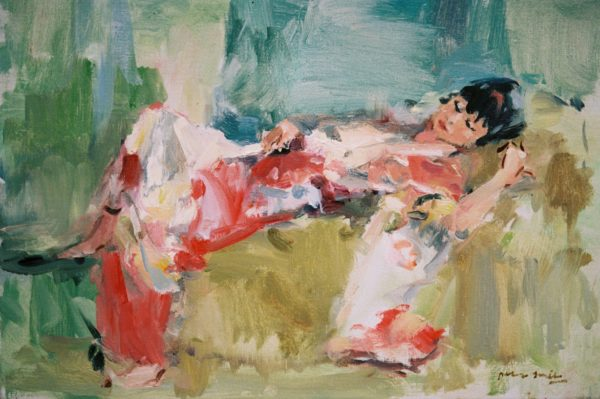 Peter smit model schilderen kimono
