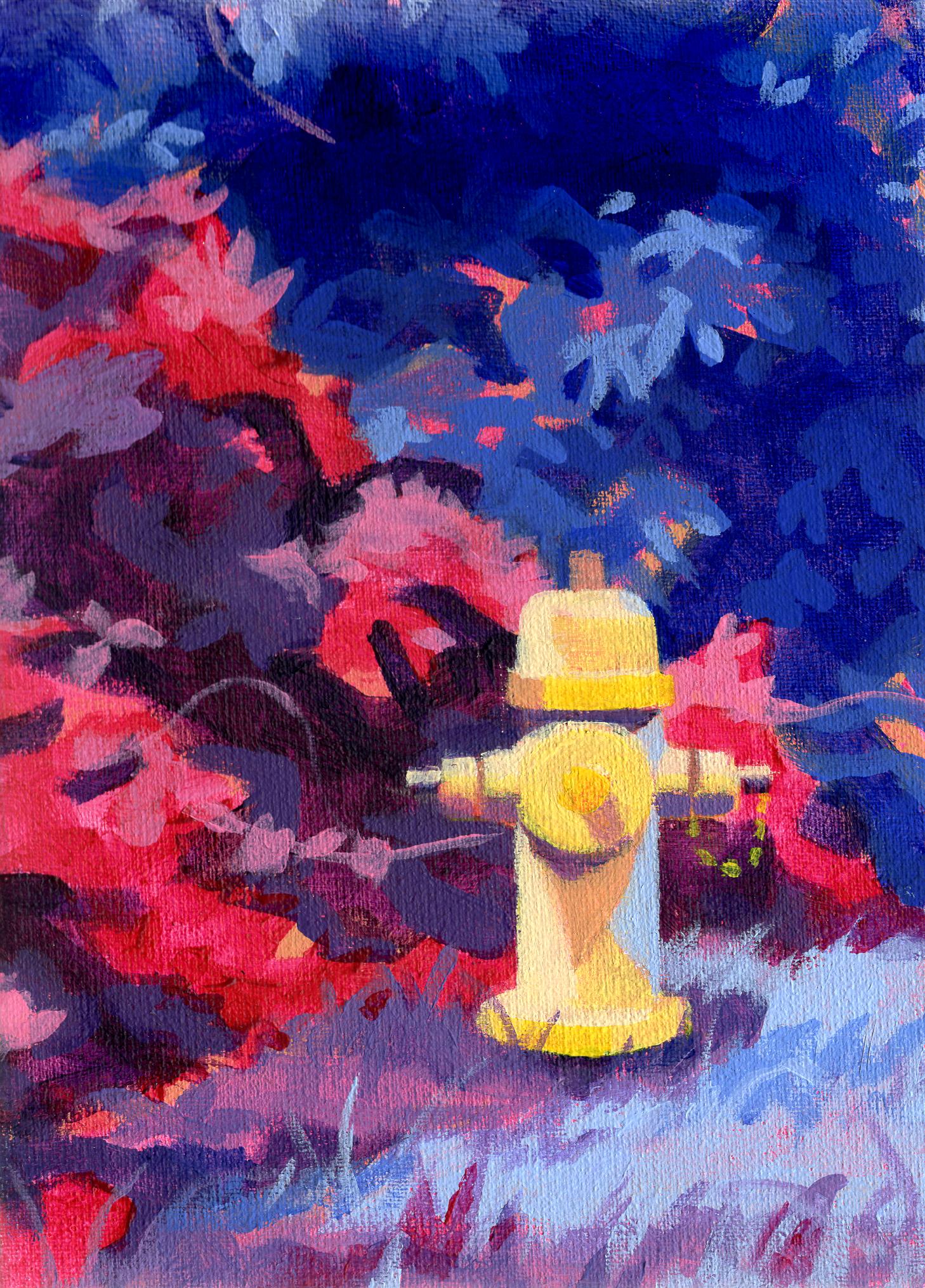 Myrthe Biesheuvel - Fire Hydrant, 18x13cm, Acryl