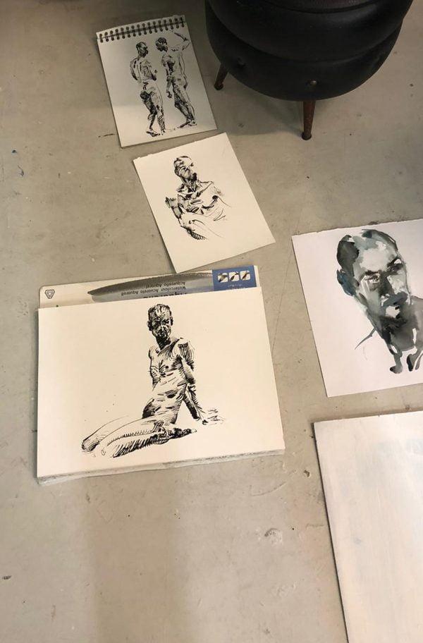 model tekenen Nouchka Huijg