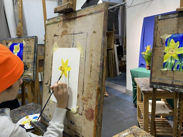 wackers jong stilleven narcis schilderen
