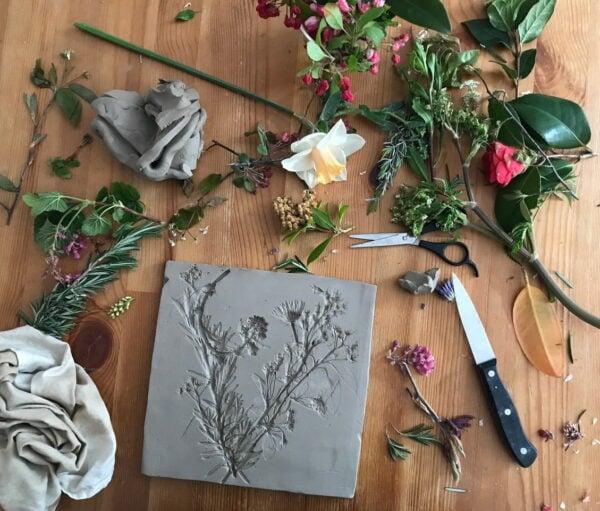 keramiek cursus botanische elementen
