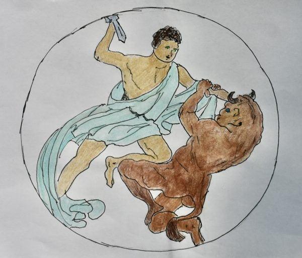 kunstgeschiedenis Jennifer, Minotaurus