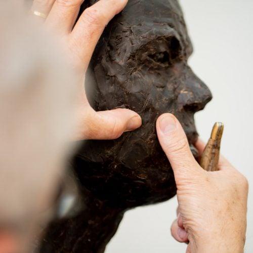 portret boetseren model beeldhouwen