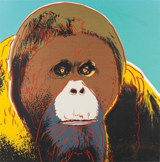 andy warhol orangoetan